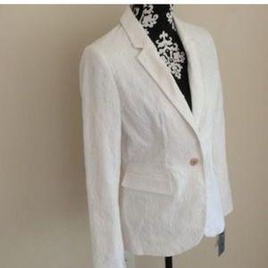 Apt. 9 white brocade blazer